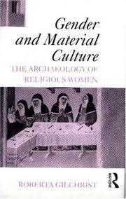 Cover of: Gender and material culture