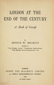 Cover of: London at the end of the century