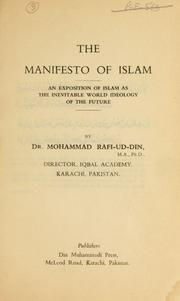 Cover of: The manifesto of Islam