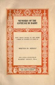 Cover of: Memoirs of the comtesse Du Barry