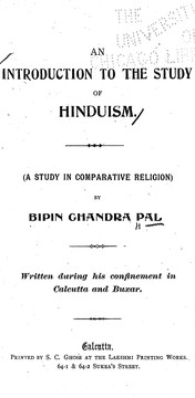 Cover of: An introduction to the study of Hinduism: a study in comparative religion
