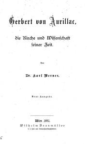 Cover of: Gerbert von Aurillac
