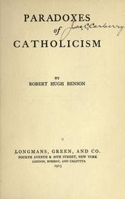 Cover of: Paradoxes of Catholicism