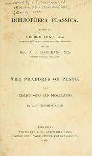 Cover of: Phaedrus