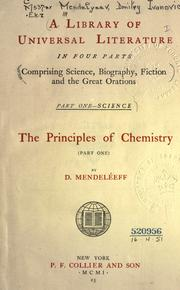 Cover of: The principles of chemistry