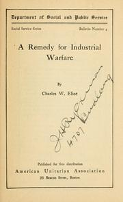 Cover of: A remedy for industrial warfare