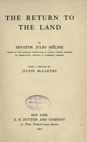 Cover of: The return to the land