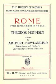 Cover of: Rome, from earliest times to 44 B.C