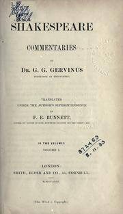 Cover of: Shakespeare commentaries