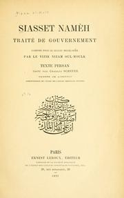 Cover of: Siasset namèh