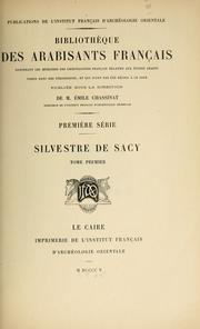 Cover of: Silvestre de Sacy (1758-1838)