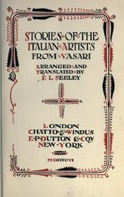 Cover of: Stories of the Italian artists from Vasari