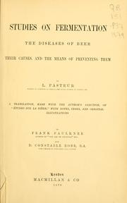 Cover of: Studies on fermentation