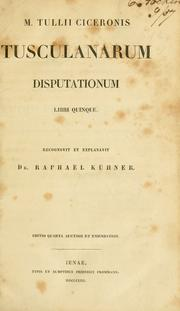 Cover of: Tusculanae disputationes