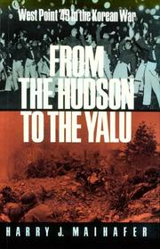 Cover of: From the Hudson to the Yalu