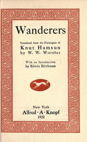 Cover of: Wanderers (Vandrer spiller med Sordin / Under Høststjærnen)