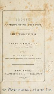 Cover of: A discourse concerning prayer