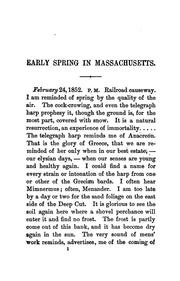 Cover of: Early spring in Massachusetts