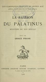 Cover of: La passion du Palatinus