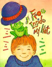 Cover of: A Frog Inside My Hat: A First Book of Poems