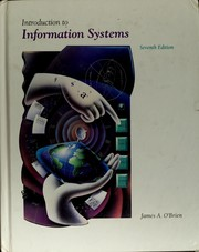 Cover of: Introduction to information systems