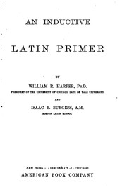 Cover of: An inductive Latin primer