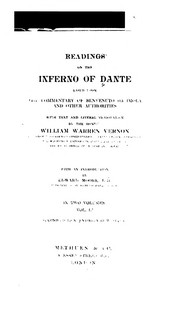 Cover of: Readings on the Inferno of Dante