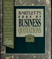 Cover of: Bartlett's book of business quotations