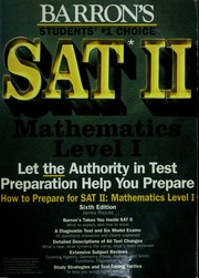 Cover of: How to prepare for SAT II--mathematics, level I