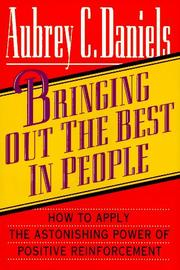 Cover of: Bringing out the best in people