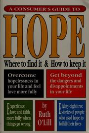 Cover of: A consumer's guide to hope