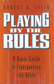 Cover of: Playing by the rules