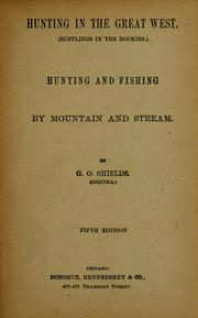 Cover of: Hunting in the Great West