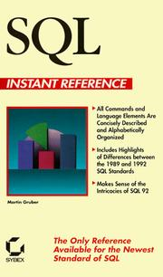 Cover of: SQL instant reference