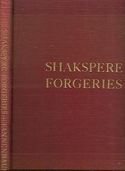 Cover of: Shakspere forgeries in the Revels accounts