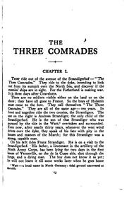 Cover of: The three comrades