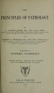Cover of: The principles of pathology