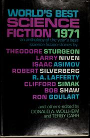 Cover of: World's Best Science Fiction 1971