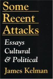 Cover of: Some recent attacks
