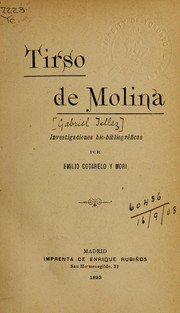 Cover of: Tirso de Molina [pseud.]