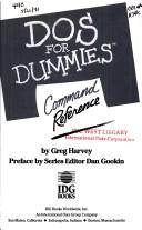 Cover of: DOS for dummies command reference