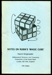 Cover of: Notes on Rubik's magic cube