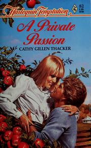 Cover of: A private passion