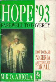 Cover of: Hope'93, farewell to poverty