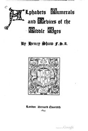 Cover of: Alphabets, numerals, and devices of the Middle Ages