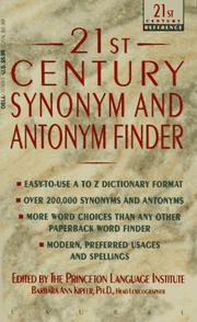 Cover of: 21st century synonym and antonym finder