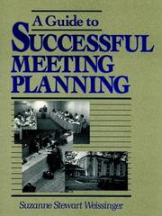Cover of: A guide to successful meeting planning