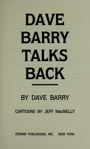 Cover of: Dave Barry Talks Back