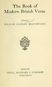Cover of: The Book Of Modern British Verse