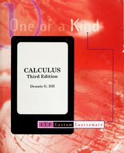 Cover of: Calculus: early transcendentals